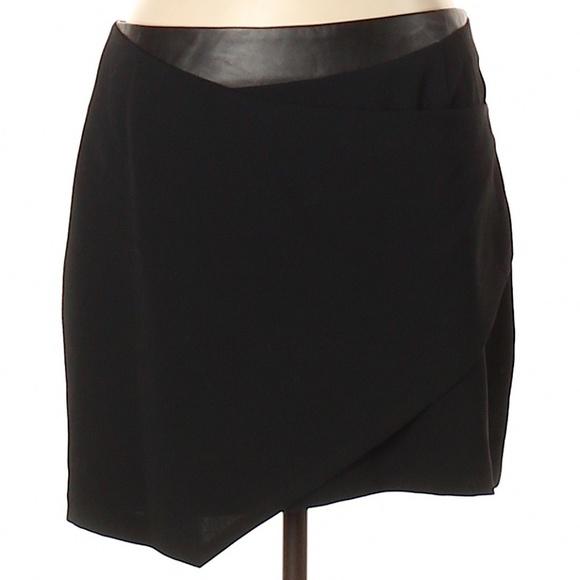 Rebecca Minkoff Dresses & Skirts - Rebecca Minkoff Wrap Skirt w/Leather Waistband-NWT
